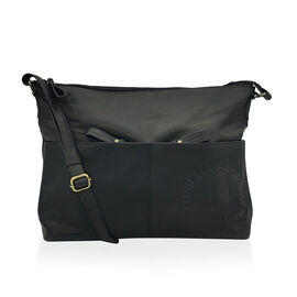 MCS Country Classics: 100% Genuine Leather Handbag - Black