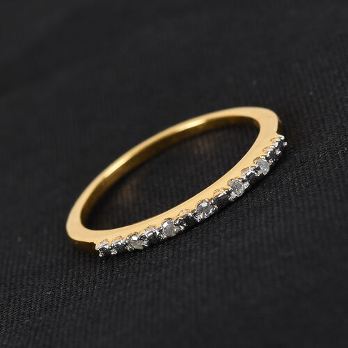 Diamond Half Eternity Ring in 14K Gold Overlay Sterling Silver