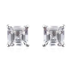 1.50 Ct Petalite Solitaire Stud Earring in Silver
