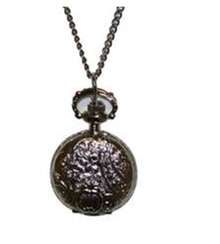 Phillip Mercier Round Vine Pattern Quartz Necklace Watch