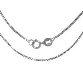 RHAPSODY 950 Platinum Box Venetian Chain (Size 20)