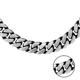 Curb Chain Necklace in Sterling Silver 18 Inch