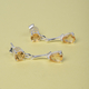 Citrine (Pear and Rnd) Earrings (with Push Back) in Sterling Silver 2.07 Ct.
