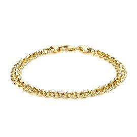 9K Yellow Gold Rollerball Bracelet (Size 7.5)