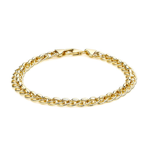 9K Yellow Gold Rollerball Bracelet (Size 7.5)