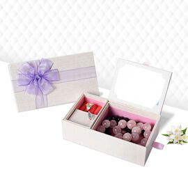 Castle in the Sky Music Jewellery Box with Ring Section and Extendable Mirror in Cream Colour with P
