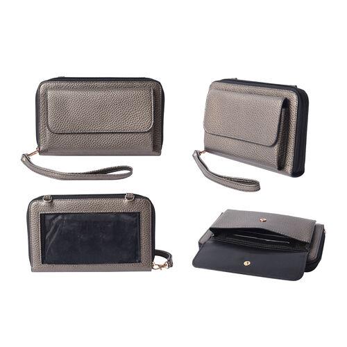 2 Piece Set - Bronze RFID Crossbody Bag and 4000mAh Wireless Power Bank