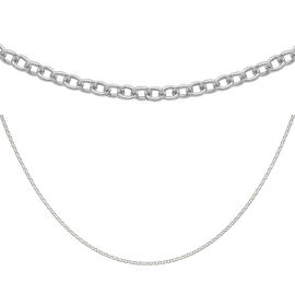 Sterling Silver Rolo Chain (Size 36), Silver wt 3.70 Gms