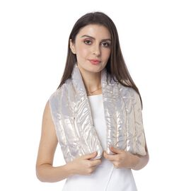 Golden Colour Scarf with Bling Effect (Size 107x18 Cm)