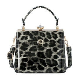 BOUTIQUE COLLECTION Leopard Pattern Shoulder Bag with Detachable and Adjustable Strap (Size 22x14x18