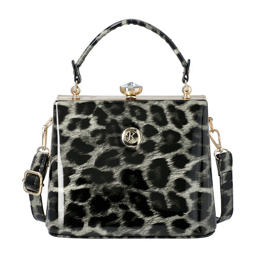 BOUTIQUE COLLECTION Leopard Pattern Shoulder Bag with Detachable and Adjustable Strap (Size 22x14x18