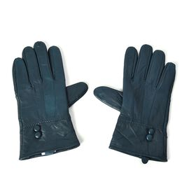 100% Genuine Leather Gloves (Size 9x23 Cm) - Green