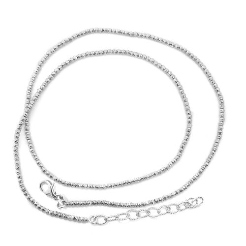 Vicenza Collection 9K White Gold Necklace (Size 18 with 2 inch Extender), Gold wt 6.50  Gms.