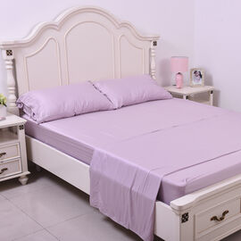 OTO - Serenity Night 4 Piece Set - 100% Bamboo Sheet Set Inclds. 1 Flat Sheet, 1 Fitted Sheet & 2 Pillowcases (50x75cm) in Lavender