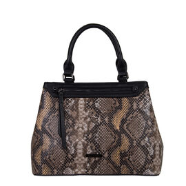 Bulaggi Collection- Snake Print Handbag (Size 32x24x13 Cm)