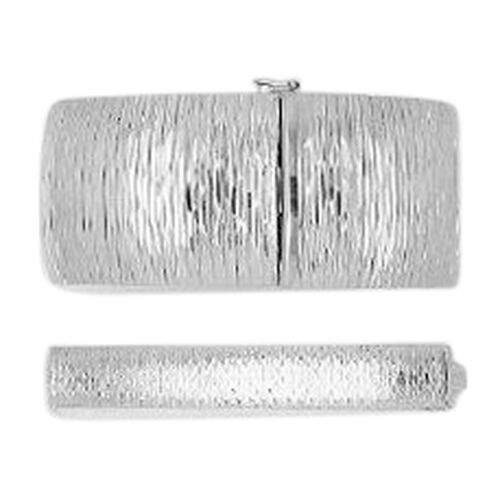 Vicenza Collection Rhodium Plated Sterling Silver Engraved Bracelet (Size 7.5), Silver wt 36.82 Gms.
