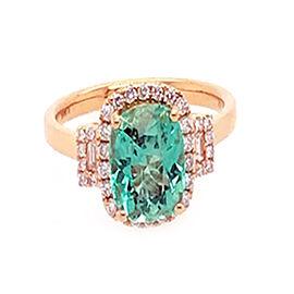 ILIANA 18K Yellow Gold AAA Boyaca Colombian Emerald (Cush 8x7mm), Diamond (SI/G-H) Ring 2.20 Ct.