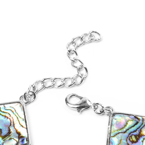 Abalone Shell Bracelet (Size 7 with 2 inch Extender) - Square
