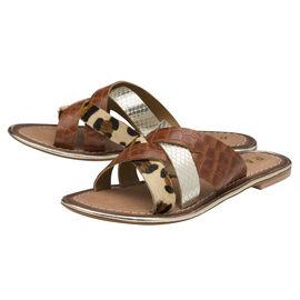 RAVEL Tan Heddon Leather Mule Sandals