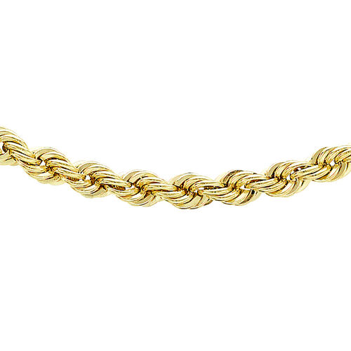 JCK Vegas Collection 9K Yellow Gold Rope Chain (Size 24), Gold wt 5.50 Gms