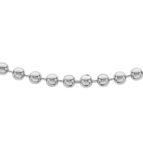 Sterling Silver Ball Bead Chain (Size 22), Silver wt 6.40 Gms