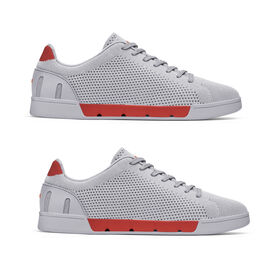 Swims Breeze Tennis Knit Men's Trainer in Alloy and Red Alert