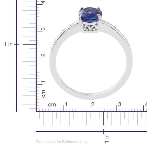 Auction Only Deal - Designer Inspired-ILIANA 18K White Gold AAA Tanzanite (Ovl 1.90 Ct), Diamond (SI/G-H) Ring 2.000 Ct. Gold Wt 3.95 Gms