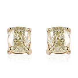 Diamond 9K Y Gold Earring  1.000  Ct.