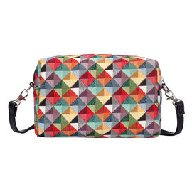 SIGNARE  - Tapestry Collection -MultiColored Triangle Shoulder Hip Bag  (20x13x7cm)