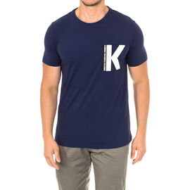 Karl Langerfeld Mens Logo T-Shirt Short Sleeve in Navy Colour