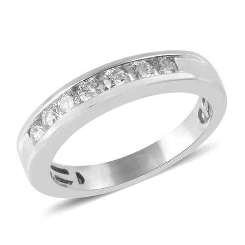 RHAPSODY 0.50 Ct Diamond Eternity Band Ring in 950 Platinum 6 Grams IGI Certified VS EF