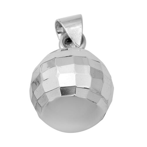 Diamond Cut Ball Pendant in Sterling Silver 6.51 Grams