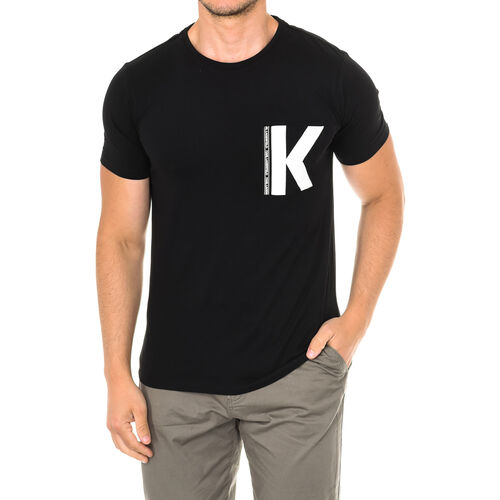 Karl Lagerfeld - Mens Logo T-Shirt Short Sleeve (Size M) - Black