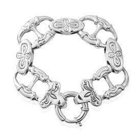 Designer Inspired-Sterling Silver Bracelet (Size 7.75), Silver wt 24.44 Gms