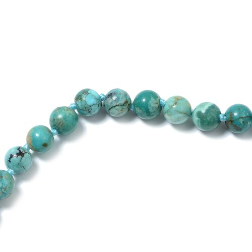 Exremely Rare- Anhui Turquoise (Rnd 6-8mm) Necklace (Size 30) 130.00 Ct.