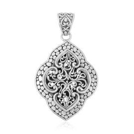 Filigree Design Drop Pendant in Silver 11 grams