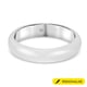 Personalised Engravable 9K White Gold  in Rhodium Overlay Band Ring, Gold Wt. 2.5 Gms