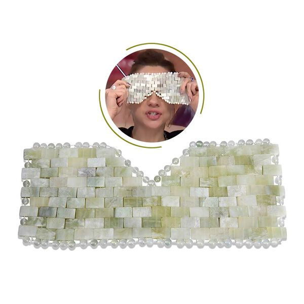 3 Piece Set - Jade Skin Care Tools (Include Facial Roller, Gua Sha and Eye Mask)