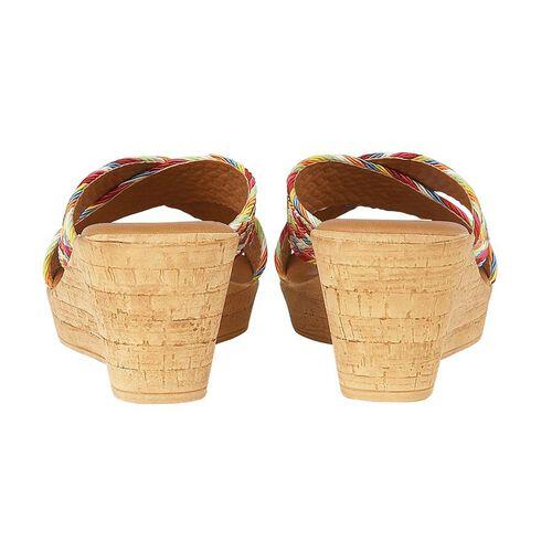 Lotus Jacinta Mule Wedge Sandals (Size 5) - Rainbow