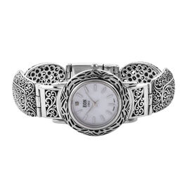 Royal Bali Collection EON 1962 Swiss Movement Water Resistant Scroll Work Watch (Size 7.25) in Sterl