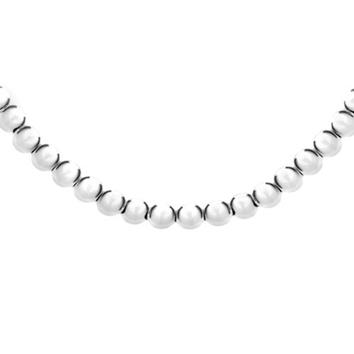 Close Out Deal- Sterling Silver Ball (6mm) Necklace (Size 18), Silver wt 12.10 Gms.