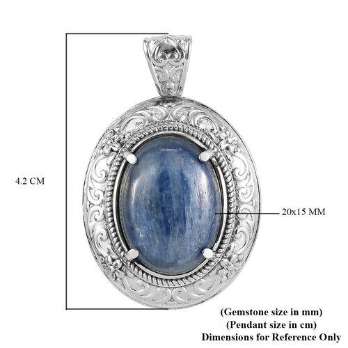 Moon Kyanite Pendant in Stainless Steel 16.00 Ct.