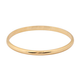 Hatton Garden Close Out Deal- 9K Yellow Gold High Polish Bangle (Size 8), Gold wt 5.60 Gms