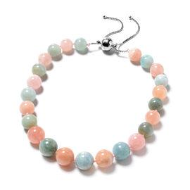 Very Rare Marropino Morganite and Espirito Santo Aquamarine Adjustable Necklace (Size 16-22) in Rhod