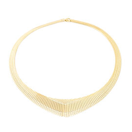 Gold Overlay Sterling Silver Cleopatra Necklace (Size 17), Silver wt 28.83 Gms.