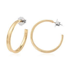 Hoop Earrings (with Push Back) in Yellow Gold Tone