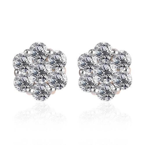 9K Yellow Gold SGL Certified Pressure Set Diamond (I3/G-H)  Stud Earrings 1.00 Ct.