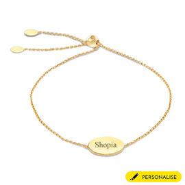 9CT Gold Disc, Adjustable Bracelet, Size 8-8.5 Inch