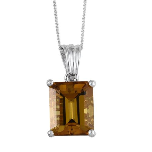 Tanzanian Scapolite (Oct) Solitaire Pendant With Chain in Platinum Overlay Sterling Silver 4.000 Ct.