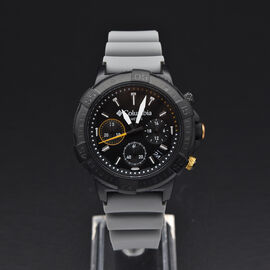 Columbia Peak Patrol Black Chronograph Day Date Grey Silicone Watch